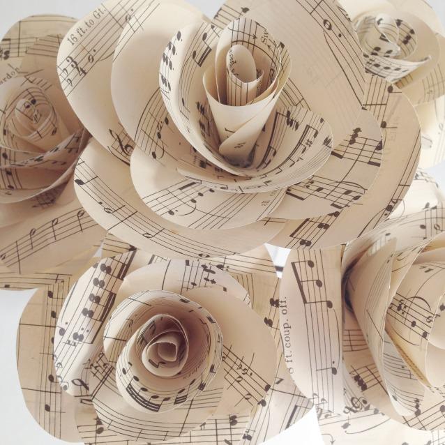 Music Note Flower Bouquet Brides Marketplace